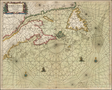 New England and Canada Map By Johannes van Loon