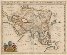 Asia and Australia Map By Hugo Allard