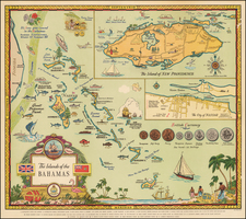 Caribbean Map By George Annand