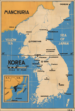 Korea Map By Anonymous