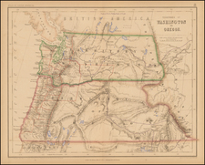 Rocky Mountains and Oregon Map By Henry Darwin Rogers  &  Alexander Keith Johnston