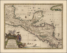 Mexico, Caribbean and Central America Map By Pieter van der Aa