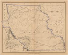 Plains, Nebraska, North Dakota, South Dakota and Rocky Mountains Map By Henry Darwin Rogers  &  Alexander Keith Johnston