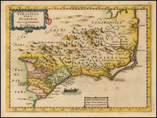 Southeast and South Carolina Map By Johannes Cloppenburg