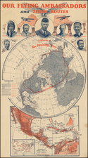 World, Northern Hemisphere, United States, Curiosities and Portraits & People Map By Hammond & Co.