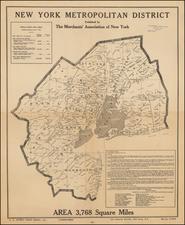 Map By Merchants Association of New York