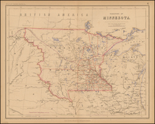 Midwest, Minnesota and Plains Map By Henry Darwin Rogers  &  Alexander Keith Johnston