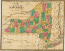 New York State Map By Samuel Augustus Mitchell