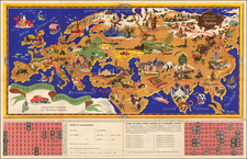 World, World, Europe, Europe, Mediterranean, Asia and Asia Map By J.B. Jannot