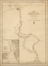 New York State and Canada Map By British Admiralty