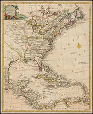 United States and North America Map By Thomas Kitchin