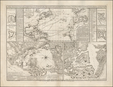 South America Map By Jean de Beaurain