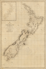 New Zealand Map By British Admiralty