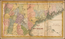 New England and Maine Map By George Gillet