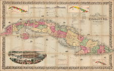 Caribbean and Cuba Map By Jose Maria De La Torre