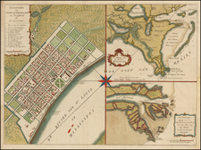 South and Louisiana Map By Isaak Tirion