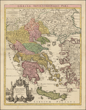 Greece Map By Johann Christoph Weigel