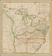 United States, Mid-Atlantic, South, Southeast and Midwest Map By Thomas Conder