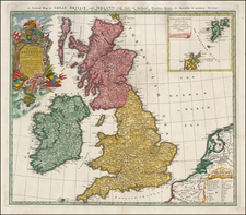 British Isles Map By Homann Heirs