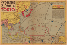 China, Japan, Korea, Southeast Asia, Philippines and Pacific Map By Edwin L. Sundberg