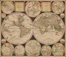 World and World Map By Carel Allard / Covens & Mortier