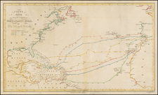 Atlantic Ocean, United States, South America and America Map By W. Kemble