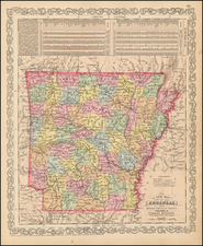 South and Arkansas Map By Charles Desilver