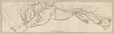 New England, Mid-Atlantic and Southeast Map By Henri Soules