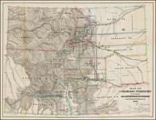 Rocky Mountains and Colorado Map By Major & Knapp