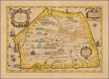 India and Other Islands Map By Jodocus Hondius