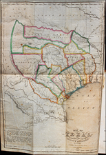 Texas Map By J.A. James & Co.