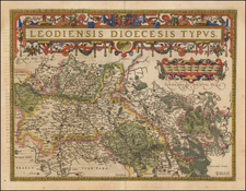 Leodiensis Dioecesis Typus By Abraham Ortelius