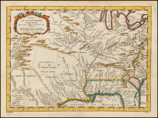 South, Southeast, Midwest and Southwest Map By Jacques Nicolas Bellin