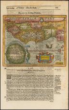 West Africa Map By Jodocus Hondius / Samuel Purchas