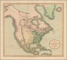 A New Map of North America From The Latest Authorities . . . 1806 By John Cary