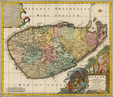India and Other Islands Map By Tobias Conrad Lotter