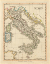 Italy and Balearic Islands Map By Charles Smith