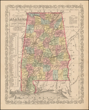 South and Alabama Map By Charles Desilver