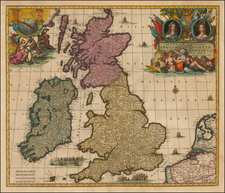 British Isles Map By Carel Allard