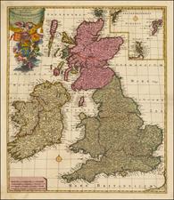 British Isles Map By Peter Schenk