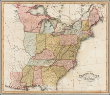 United States Map By W. & D. Lizars