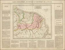 South America and Guianas & Suriname Map By Jean Alexandre Buchon