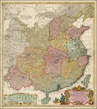 China Map By Johann Matthaus Haas
