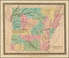 South and Arkansas Map By David Hugh Burr