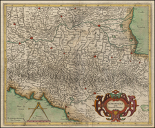 Northern Italy Map By Gerhard Mercator