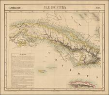 Caribbean Map By Philippe Marie Vandermaelen