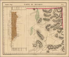 Southwest and Rocky Mountains Map By Philippe Marie Vandermaelen