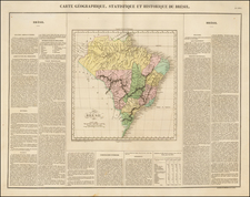 South America and Brazil Map By Jean Alexandre Buchon