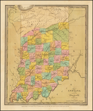 Midwest and Indiana Map By David Hugh Burr