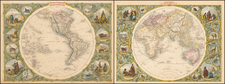 Western Hemisphere [and] Eastern Hemisphere By John Tallis